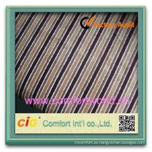 Forme la tela teñida llano llano de la raya del chenille del telar jacquar del poliéster lindo del nuevo diseño para el sofá
