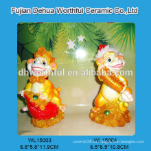 2016nev llegada polyresin decoración de navidad en forma de mono