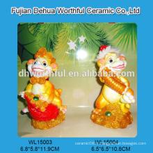 2016nouvelle livraison polyresine décoration de Noël en forme de singe