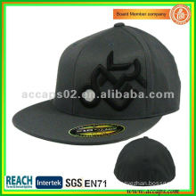 Flat fitted hat with sticker SN-0101