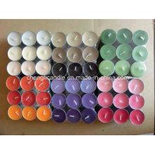 Bougie chauffe-plat couleur avec différents parfums