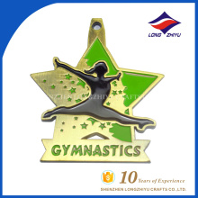Novelty promotion custom finisher gymnastic star shape medals