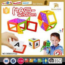 Brinquedos do jogo do bloco do pocoyo da alta qualidade para o bloco de edifício da sabedoria da mag das crianças