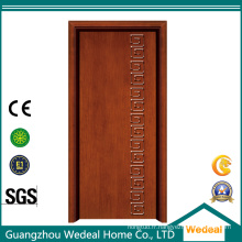 Porte en bois d'intérieur / extérieur de forces de défense principale de PVC moulé préfini