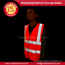 100% polyester yellow security reflective safety vest