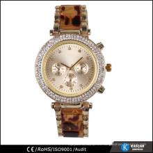 Cronógrafo estilo japon movimiento reloj de cuarzo sr626sw batería, los hombres de lujo relojes