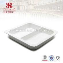 Restaurant blanc en porcelaine en gros servant de plats pour buffet