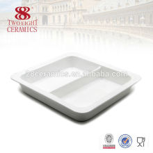 Wholesale white porcelain restaurant catering serving dishes for buffet