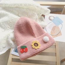 Sombrero de cuero de melón cálido tela bordado fruta lana