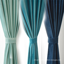 Polyester luxury velvet and clear white curtains