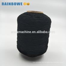 90 # / 100 # / 110 # hilado de poliéster cubierto de goma del spandex elástico simple del color