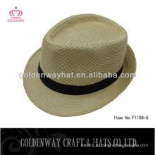 Sombreros de paja baratos para el sombrero del fedora del partido para la venta al por mayor