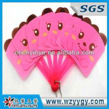 Fancy kids hand held fan, plastic promotional hand held fan