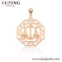 33878 xuping 12 constellations Copper alloy fashion pendant designs