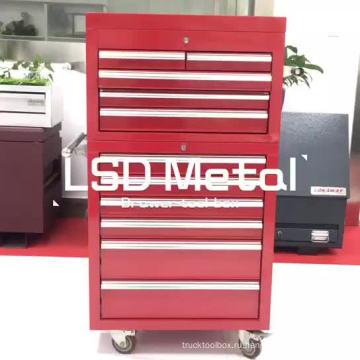 26-дюймовый размер подгонянный ящик для инструментов тележки из нержавеющей стали с ящиками и роликами
