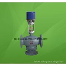 Válvula reguladora de flujo de desvío eléctrico de tres vías (3 vías) (ZDLX)