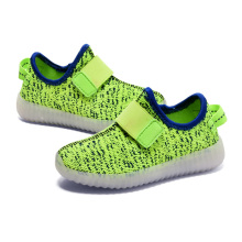 Kinder Breathable Luminous Knitted Lled Schuhe