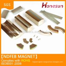 Customized neodymium magnet motor high grade N52 magnet