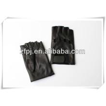 Gants sans doigts de mode conduisant des gants en cuir dans le baoding