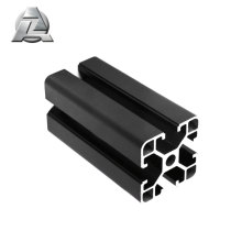 Customized black t-slot aluminum extrusion