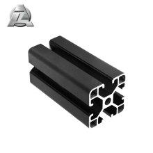Customized black t-slot aluminum extrusion