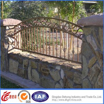 Galvanized Palisade Wrought Iron Fence