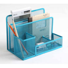 Metal Mesh Office Desk Organizer Stationery Holder