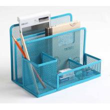 Porta-artigos de papelaria para organizador de mesa de escritório em malha de metal