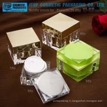 YJ-KG série straight angle importé pot carré crème acrylique matière 30g-50g-80g