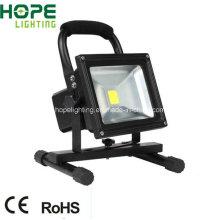 Luz de inundación de alta calidad al aire libre, potencia Luz de inundación brillante estupenda del LED, reflector de LED recargable