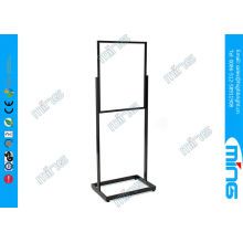 Lightweight Double Sided Floor Stand Sign Holder With Aluminum Open Base