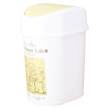 Flip-on White Plastic Garbage Bin (FF-5234-2)
