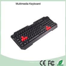 Láser de impresión impermeable teclado de PC multimedia (KB-1688-R)