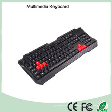 Laser Printing Waterproof Multimedia PC Keyboard (KB-1688-R)