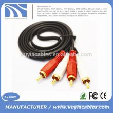 1.5m 5ft 2Rca a 2Rca Cable de audio y vídeo