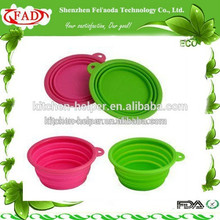 New Procuct for 2015 Collapsible Silicone Dog Salad Bowl