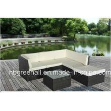 Mobiliario de jardín al aire libre del sofá de la rota / del mimbre del estilo de Kd