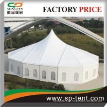 Große Hochzeitszelte zum Verkauf 20x29m mit High Peak und Polygon Ends