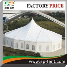 Grandes tentes de mariage à vendre 20x29m avec haute pointe et extrémités de polygones