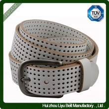 100% Leather Casual Golf Jean Perforated Belt