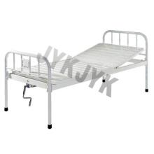Покрытая сталь Однофункциональная ручная кровать Больничная кровать