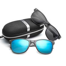 New brand high-end men's and women's rice nail sunglasses ultra light aluminum-magnesium polarized sunglasses