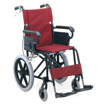 Taa ya Aluminium ya Folding Lightweight Adjustable Wheelchair