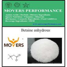 Supplément de nutrition de catégorie comestible bétaïne anhydre