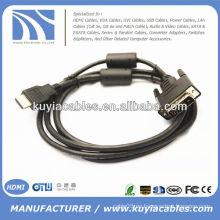 6 pies 1.8M oro HDTV HDMI al cable del VGA Cable del adaptador HD15
