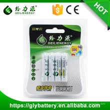 Geilienergy Brand Factory Direct 1.2V 800mah NIMH pila recargable AAA