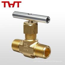 Válvula de aguja de cobre del control hidráulico de cobre amarillo roscado caliente de la venta