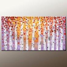 Framed Handmade paleta faca pintura a óleo sobre a tela