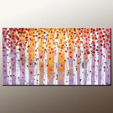 Couteau de palette fait à la main Peinture à l'huile Art sur toile