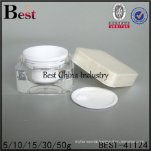 5g 10g 15g 30g 50g pmma cosmetic plastic empty cream jar